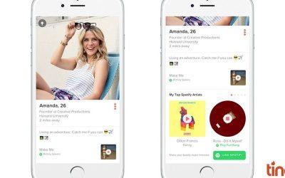 """Tinder e Spotify se integram para unir """"matchs"""" com gosto musical parecido"""